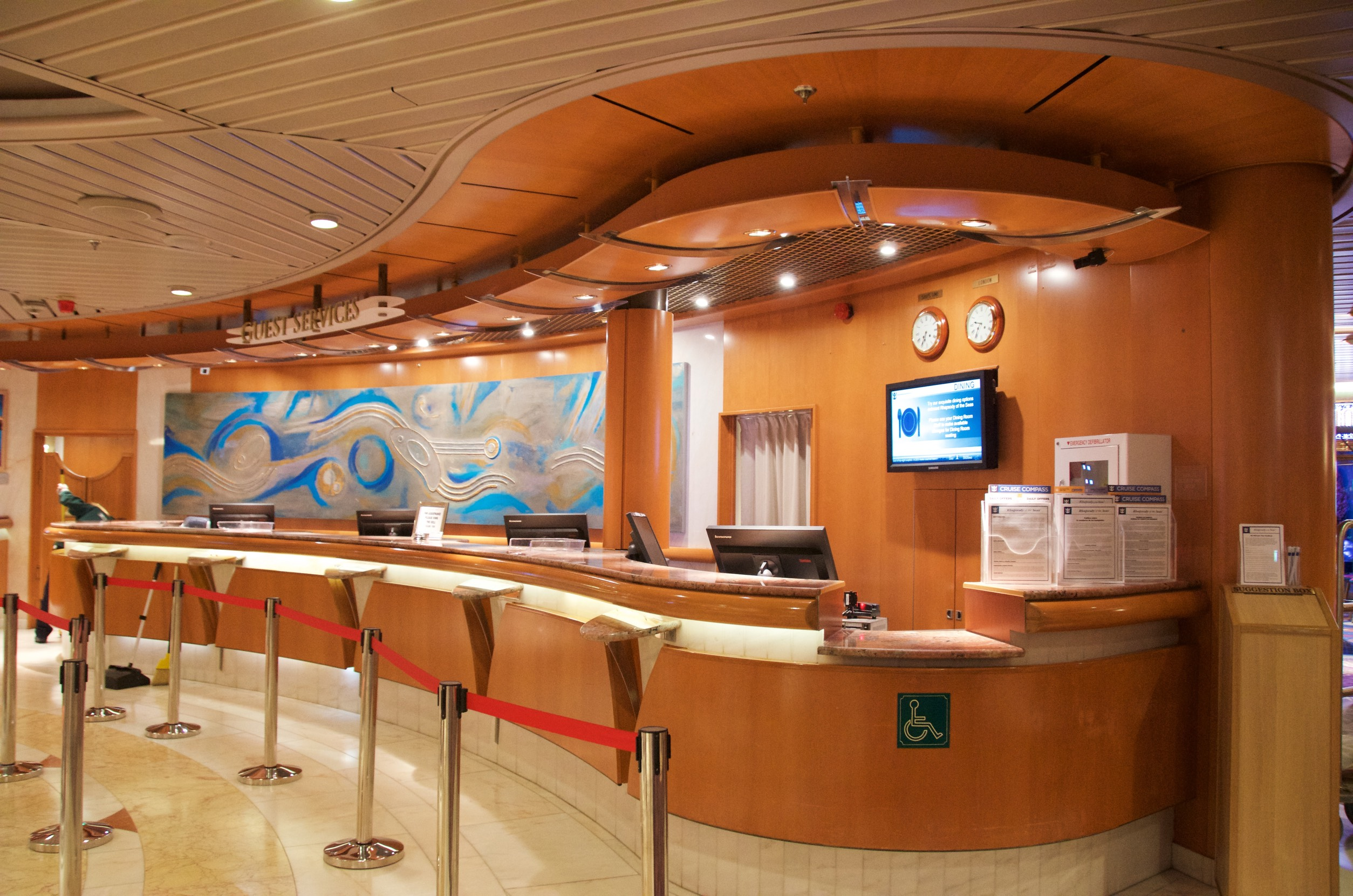 Shore excursions desk for Affitti cabina sole valle